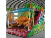 Inflatable Jungle Theme Dry Slide