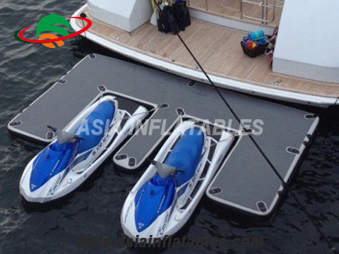 High Quality Floating Platform Yacht Watercraft Dock Inflatable Drop Stitch Air Dock