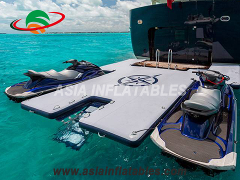 Inflatable Drop Stitch Dock Floating Jetski Seabob Dock Platform