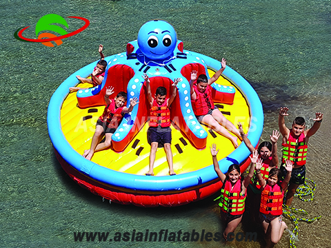 New Design Octopus Twister Disco Boat, Towable Inflatable Disco Boat