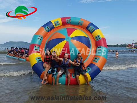Factory Price Water Towable Inflatable Disco Boat For Water Sports Games
