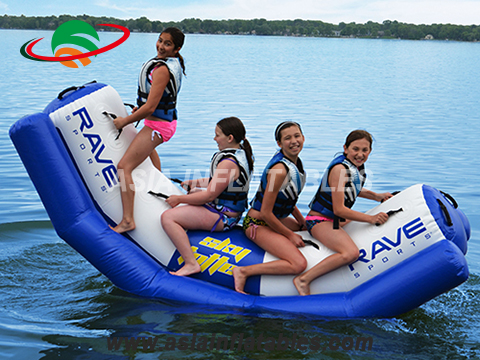PVC Tarpaulin inflatable water toys,inflatable floating seesaw for kids