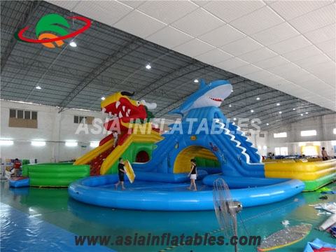 Mobile Inflatable Amusement Water Park,  New Design Giant Beach Inflatable Water Park