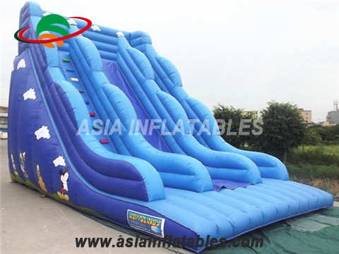 Blue Inflatable Water Slide