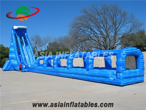 Blue Crush Inflatable Water Slide With Slip n Slide