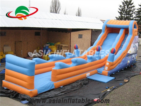Single Lane Inflatable Dry Slide