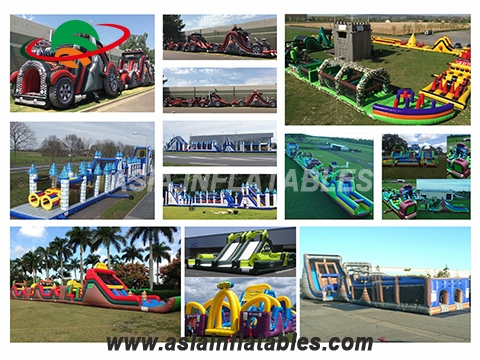 Giant Inflatable Assault Course, Inflatable Course Truck Camp Assault Obstacle Course