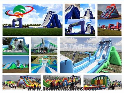 Crazy Team Work Sport Games Giant Inflatable Obstacle Course, Inflatable 5K Obstacle Run Race