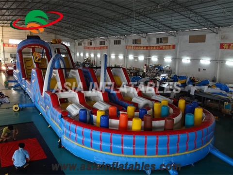 Giant Inflatable Air Port Playground For Event Children Amusement Games