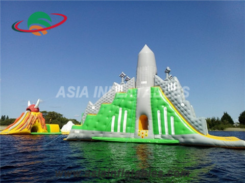 The Biggest Inflatable Water Park Rocket Floating Island Platform